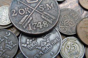 gamla mynt